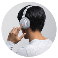 Microsoft Surface Headphones in use
